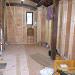 既存材木を利用したキッチン